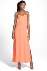 Leith Side Slit Maxi Dress Juniors Orange