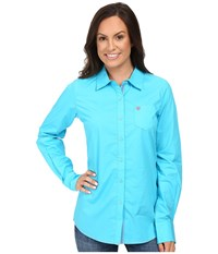 Ariat Kirby Shirt Endless Turquoise Women's Long Sleeve Button Up Blue