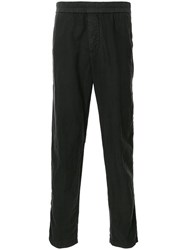 James Perse Elasticated Waist Straight Leg Trousers Black