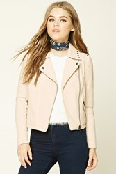 Forever 21 Studded Moto Jacket Blush