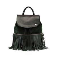 Ozerianko Bags Backpack With Removable Fringe La Belle Verte Combo