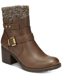 Bare Traps Dover Sweater Booties Women's Shoes Brown