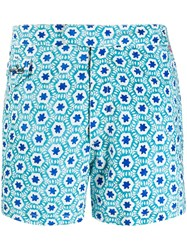 Mc2 Saint Barth Printed Swim Shorts Blue