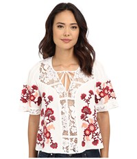 For Love And Lemons Isabella Top White Women's Blouse