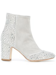Polly Plume Ally Saint Tropez Boots Women Leather Suede 40 Grey