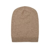 Barneys New York Cashmere Slouchy Hat Beige Tan