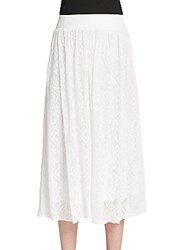 Tess Giberson Needle Point Voile A Line Skirt White