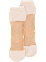 Uma Wang Ankle Tights Nude And Neutrals