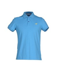 Henry Cotton's Topwear Polo Shirts Men Azure