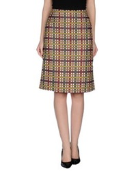 Laura Urbinati Knee Length Skirts Grey