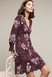 Maeve Monaco Tiered Dress Wine