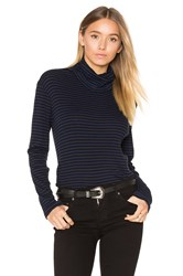 Sundry Mock Neck Top Blue