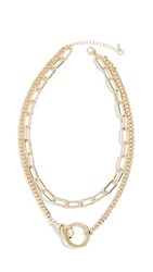 Jules Smith Designs Lobster Claw Pendant Necklace Yellow Gold