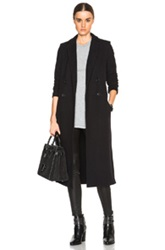James Perse Fleece Overcoat In Black