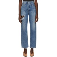 Agolde Blue Organic 90S Mid Rise Loose Fit Jeans