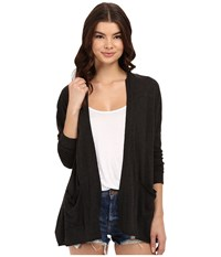 Billabong Outside The Lines Cardigan Off Black Women's Sweater