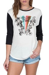 Volcom Women's 'Far Out' Three Quarter Sleeve Graphic Tee