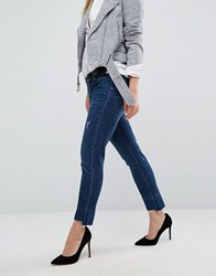 Blank Nyc Boyfriend Jean With Extreme Destroyed Detail Blue