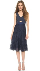 Rebecca Taylor Lace Cutout Dress Navy