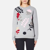 Sportmax Women's Texas Embroidered Sweatshirt Medium Grey