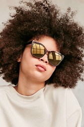 Urban Outfitters Cameron Square Sunglasses Brown