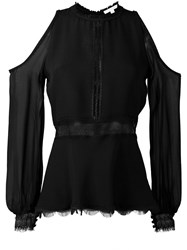 Jonathan Simkhai Cold Shoulder Blouse Black
