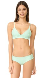 Tori Praver Swimwear Solids Daniela Triangle Top Patina
