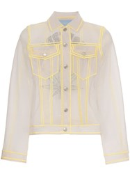 Viktor And Rolf Amsterdam Embroidered Mesh Shirt Grey