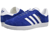 Adidas Gazelle Foundation Collegiate Royal White Gold Metallic Men's Tennis Shoes Blue