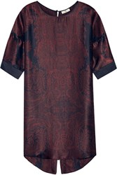 Day Birger Et Mikkelsen Day Tour Printed Silk Satin Mini Dress Red