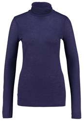 United Colors Of Benetton Long Sleeved Top Blue Grey Blue Grey