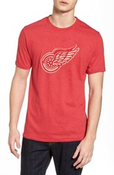 American Needle 'S Hillwood Red Wings T Shirt Heather Red
