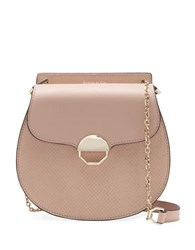 Louise Et Cie Sonye Leather Crossbody Saddle Bag Light Pink