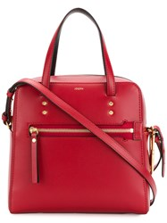 Joseph Small Ryder Keychain Tote Bag Red