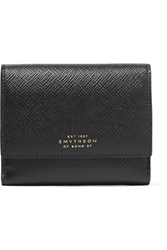 Smythson Panama Textured Leather Wallet Black