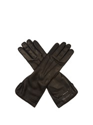 Balenciaga Long Soft Leather Gloves Black