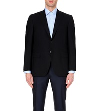 Canali Single Breasted Wool Jacket Navy