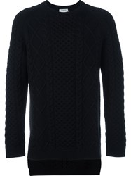Ports 1961 Pattern Knitted Jumper Black