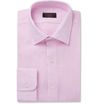 Emma Willis Pink Slim Fit Linen Shirt
