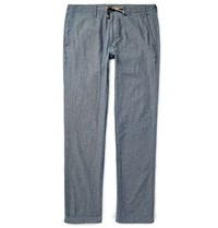 Alex Mill Cotton Chambray Trousers Blue