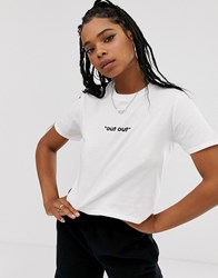 Adolescent Clothing Out Out Cropped T White
