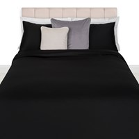 Amara Egyptian Cotton Duvet Cover Black