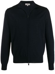 Canali Long Sleeve Zip Front Cardigan 60
