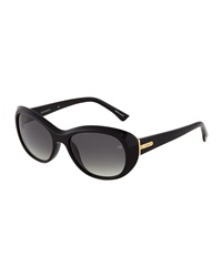 Nina Ricci Thick Frame Cat Eye Acetate Sunglasses Black