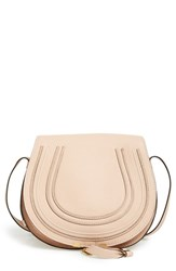 Chloe Chloe 'Marcie Medium' Leather Crossbody Bag Beige Blush Nude