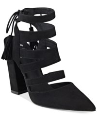 G By Guess Galway Open Back Block Heel Sandals Women's Shoes Black