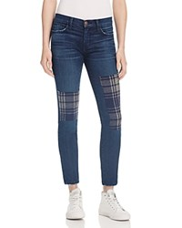 Current Elliott The Stiletto Patched Jeans In Vista 100 Bloomingdale's Exclusive Pistol Vista Plaid