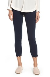 Lysse Scallop Hem Denim Leggings Indigo