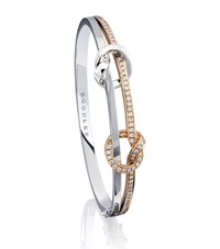 Boodles Contrast Knot Bangle Female Rose Gold