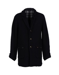 Vneck Coats Dark Blue